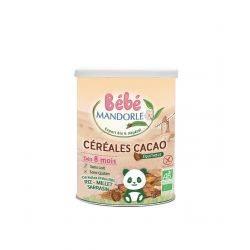 Cereale cu cacao pentru bebelusi de la 8 luni x 400g Bebe Mandorle