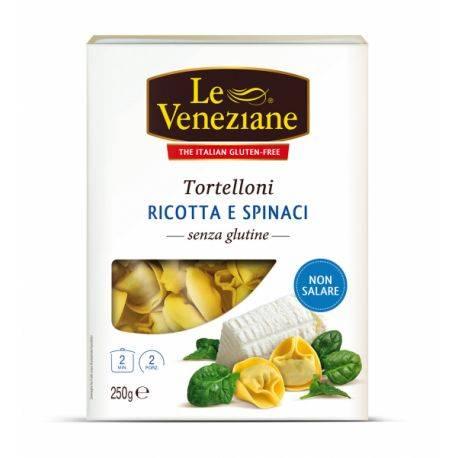 Tortelloni cu ricotta si spanac fara gluten x 250g Le Veneziane