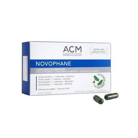 Novophane capsule vegetale pentru par si ungii x 60cps ACM