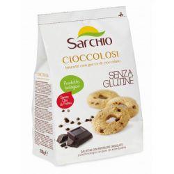 Biscuiti Cioccolosi cu ciocolata si cacao fara gluten x 200g Sarchio