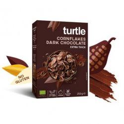Fulgi de porumb inveliti in ciocolata neagra fara gluten x 250g Turtle