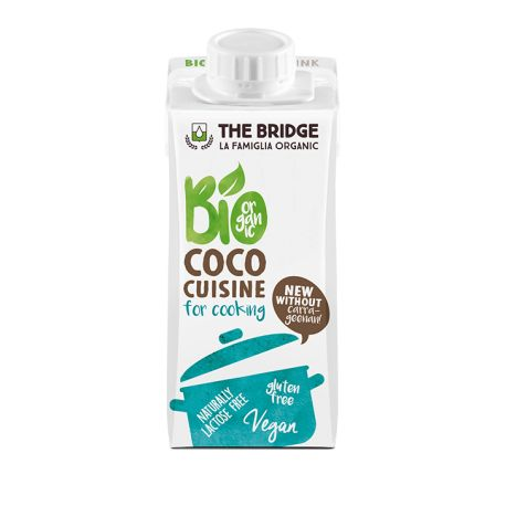 Crema vegetala de gatit din cocos fara gluten x 200ml The Bridge