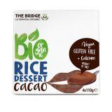 Desert din orez cu cacao fara gluten 4 x 110g The Bridge