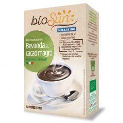 Preparat pentru bautura bio cu cacao fara gluten, vegan x 125g BioSUN