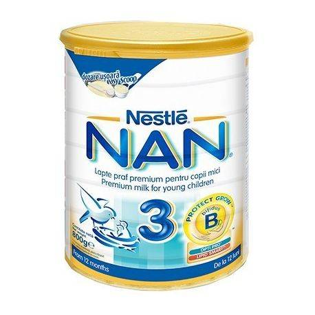 Lapte praf Nestle Nan3 x 800g, de la 12 luni