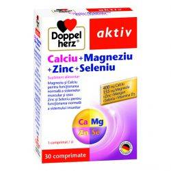Doppelherz aktiv Calciu + Magneziu + Zinc + Seleniu x 30 comprimate