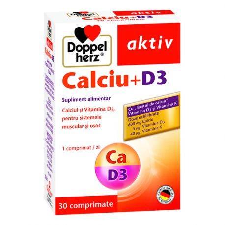 Doppelherz aktiv Calciu + D3 x 30 comprimate