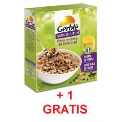 Oferta 1+1 Cereale petale cu ciocolata fara gluten x 300g Gerble